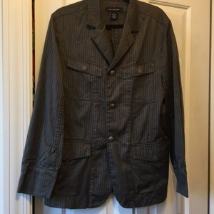 Men's Calvin Klein brown/gray striped blazer